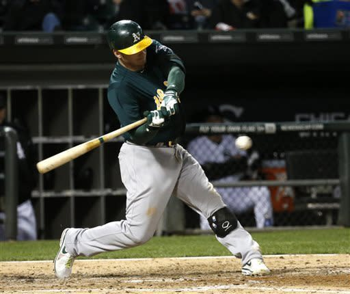 Donaldson hits grand slam to lead A's to win