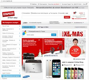 Staples Europe Launches Updated Website in Germany and Netherlands