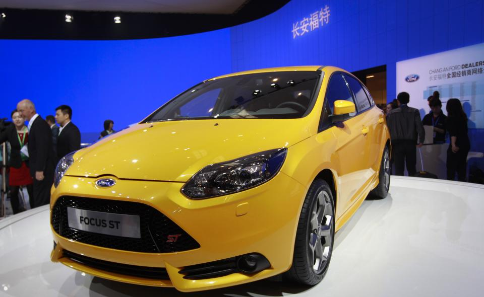 Ford Focus ST is on display at the Beijing International Auto Exhibition in Beijing, China, Monday, April 23, 2012.  (AP Photo/ Vincent Thian)