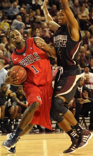 No. 20 Mississippi State beats Mississippi, 70-60