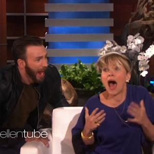 Chris Evans Totally Scares Scarlett Johansson on 'Ellen'