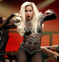 Lady Gaga performs onstage at the iHeartRadio Music Festival held at the MGM Grand Garden Arena in Las Vegas on September 24, 2011 -- Getty Images