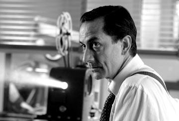David Strathairn as Edward R. Murrow in Warner Independent Pictures' Good Night, And Good Luck.