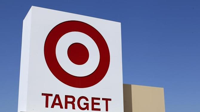 A Target sign is pictured next to one of their stores in Vista