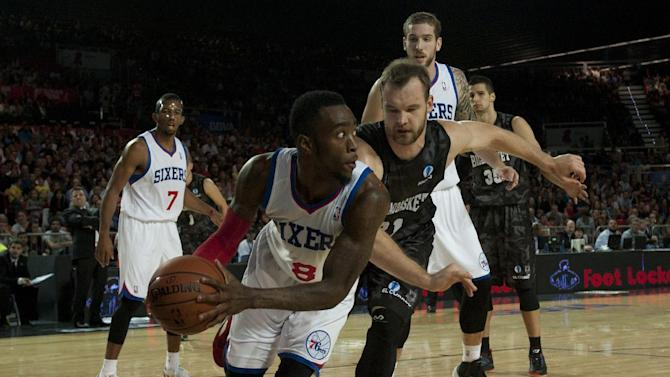 76ers beat Spain's Bilbao Basket 106-104