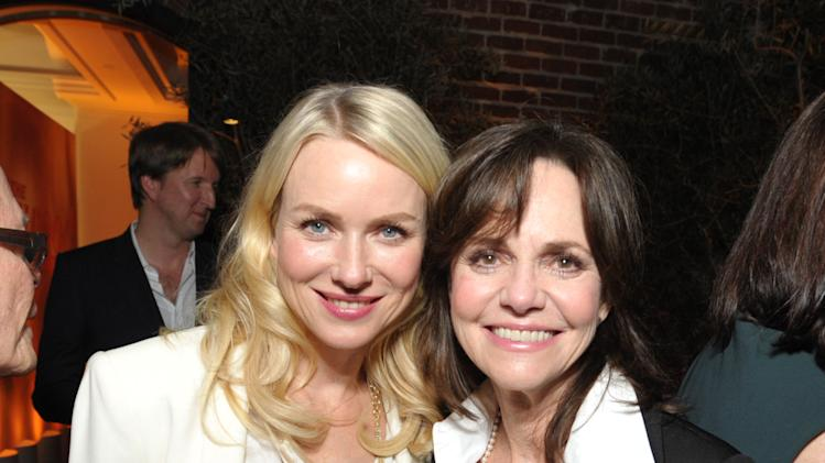 Naomi Watts, left, and Sally Field attend The Hollywood Reporter Nominees' Night at Spago on Monday, Feb. 4, 2013, in Beverly Hills, Calif. (Photo by John Shearer/Invision for The Hollywood Reporter/AP Images)