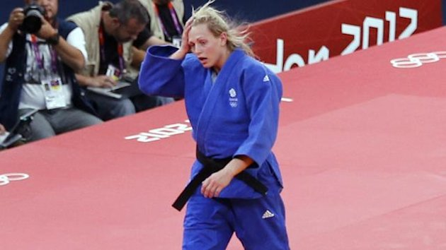 Britain's Gemma Gibbons competes in the London 2012 judo competition