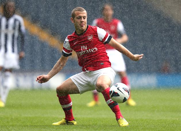 Arsenal's Jack Wilshere in action in an U21 Premier League match on Monday