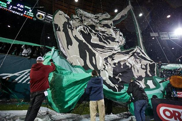 Portland Timbers play the Philadelphia Union in season opener, Sat, March 8, 2014, at Providence Park, in Portland, Ore