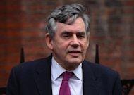 "Former British prime minister Gordon Brown arrives to give evidence at the Leveson Inquiry into media ethics at the High Court in London on Monday. Brown was set to face questions about his relationship with 81-year-old Rupert Murdoch, after the Australian-born tycoon told the inquiry that they enjoyed a ""warm personal relationship"""