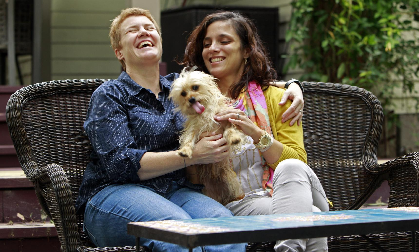 Gay marriage issue complicates immigration, motherhood