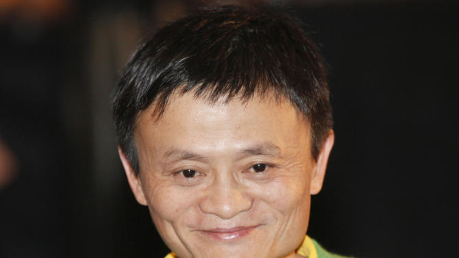 FILE - In this Sept. 14, 2012 file photo, Chinese Internet entrepreneur, Jack Ma Yun, founder and chairman of Alibaba Group, attends an event in Hong Kong to celebrate the 70th anniversary of Emperor Entertainment Group Ltd., one of Hong Kong's biggest market leaders of the entertainment industry. Alibaba Group, one of the world's biggest e-commerce companies, said Monday, March 11, 2013, its executive vice president will succeed founder Ma as chief executive. Ma, 48, announced in January he was stepping down as CEO to make way for younger leaders. He stayed on as chairman. Jonathan Lu Zhaoxi, a 13-year veteran of the company, will take over in May as CEO, said the company, based in the eastern city of Hangzhou. (AP Photo/Kin Cheung, File)