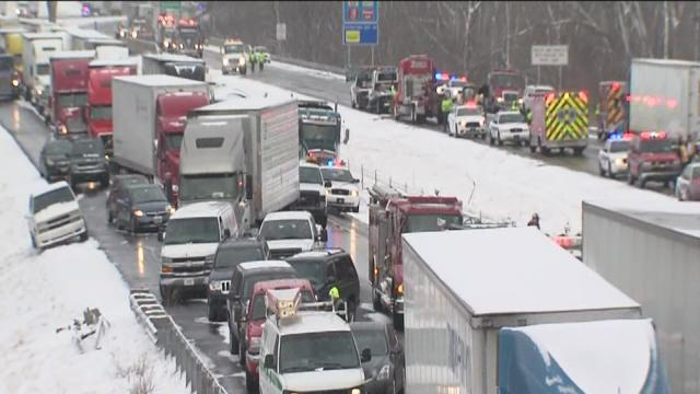 1 dies after 40-car pileup on I-70