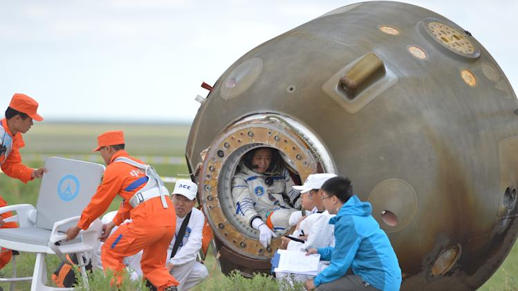 Shenzhou X Capsule Re-Enters And Lands In Inner Mongolia