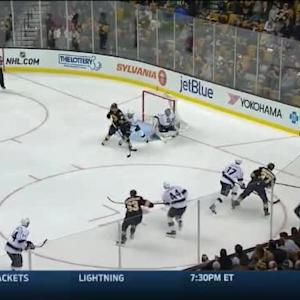 Jonathan Quick Save on Patrice Bergeron (01:02/1st)
