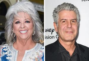 Paula Deen, Anthony Bourdain | Photo Credits: Ray Tamarra/Getty Images; Jason LaVeris/FilmMagic/Getty Images