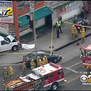 1 Dead, 2 Seriously Injured In Car Vs. Pedestrian Crash In Koreatown