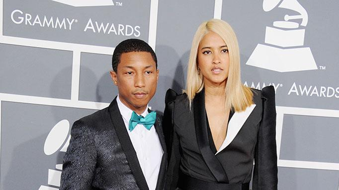 The 55th Annual GRAMMY Awards - Arrivals: Pharrell Williams and Helen Lasichanh
