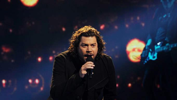 "Josh Krajcik performs ""Come Together"" by The Beatles on ""The X Factor."""