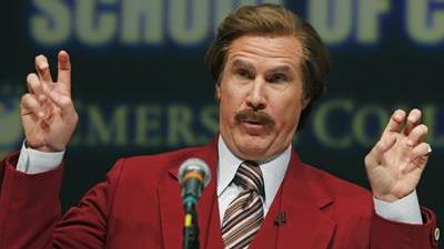 Video: Mass. School Renamed for Ron Burgundy for a Day