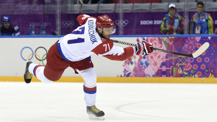 Olympics: Ice Hockey-Men's Quarterfinals-Finland vs Russia