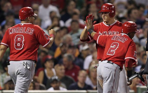 Morales' HR lifts Angels to 14-13 win over Red Sox