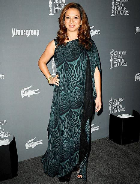 Maya Rudolph Debuts Baby Bump at Costume Designers Guild Awards