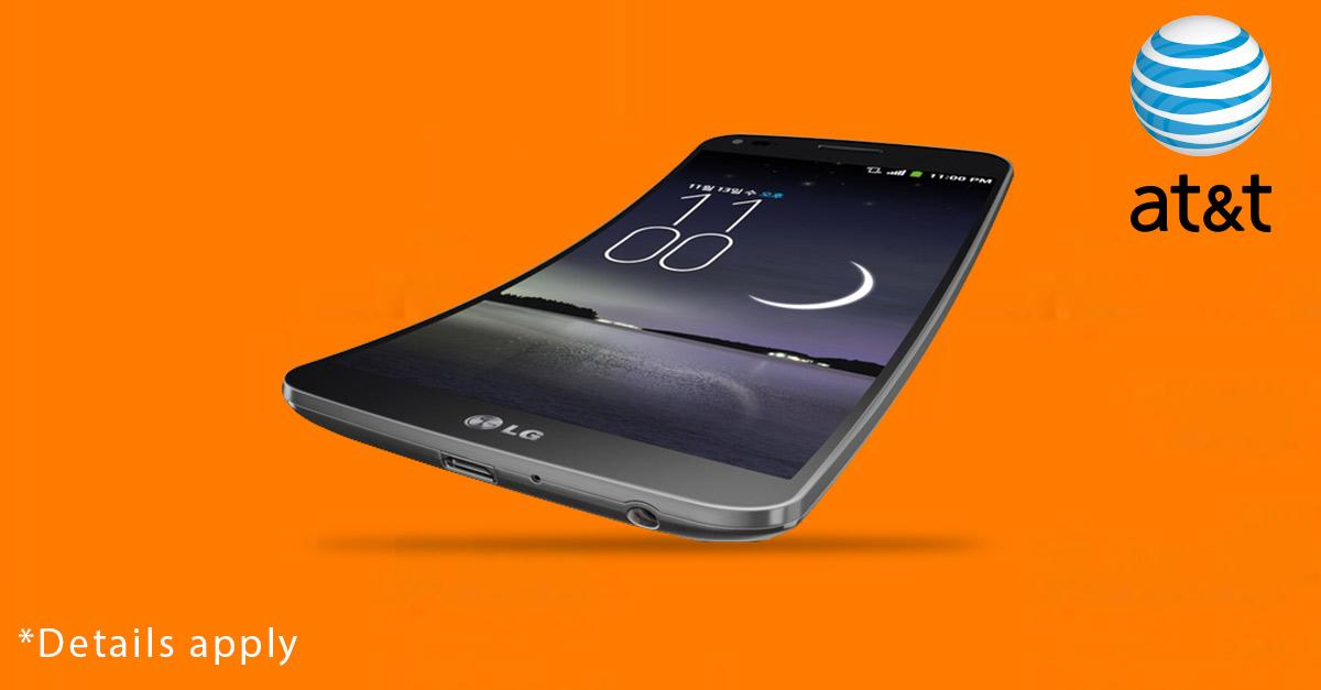Free LG G Flex From AT&T With 2-Year Contract.