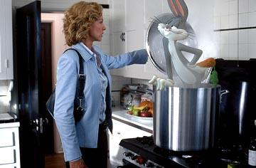 Jenna Elfman and Bugs Bunny in Warner Bros. Looney Tunes: Back in Action