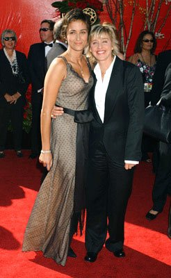 Alexandra Hedison and Ellen DeGeneres 56th Annual Emmy Awards - 9/19/2004