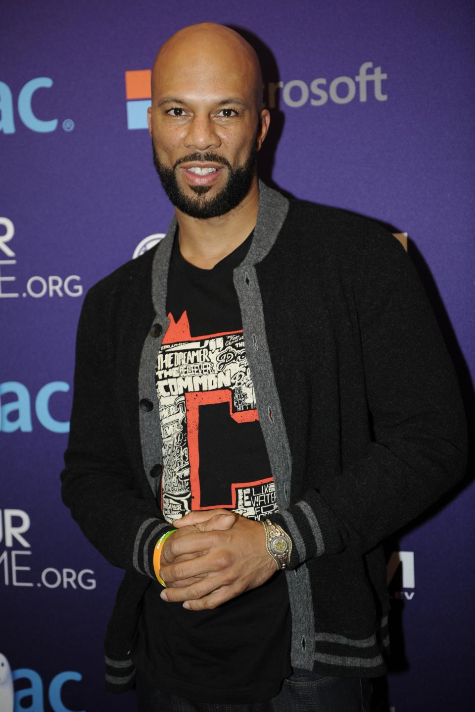 Musician Common arrives at the OurTime.org Inaugural Youth Ball Generation Now Party on Saturday, Jan. 19, 2013, in Washington. (Photo by Nick Wass/Invision/AP)