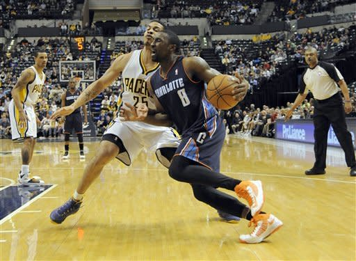 George, Hansbrough lead Pacers over Bobcats 101-77