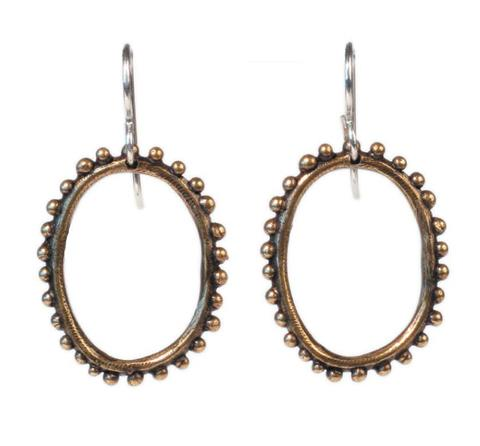 Dream Collective, Small Beaded Oval Earring, $48