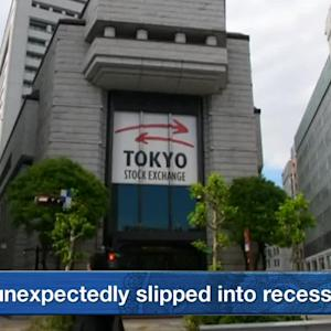 Stocks Drop at Open on Japan Unexpectedly Falling into Recession