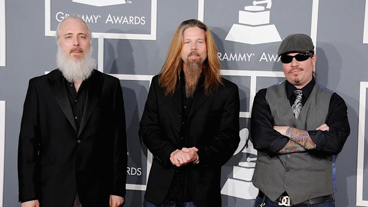 The 55th Annual GRAMMY Awards - Arrivals: John Campbell, Chris Adler and Willie Adler of Lamb of God