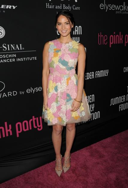 Olivia Munn is seen at Elyse Walker presents the 8th annual Pink Party hosted by Michelle Pfeiffer to benefit Cedars-Sinai Women's Cancer Program held at HANGAR:8 in Santa Monica, Calif., on October 27, 2012 -- Getty Images