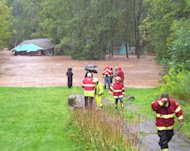 Firemen came to the aid of deluged residents. Fleischmanns, N.Y. sustained $4 million in damages from Hurricane Irene. For scale, the town's annual budget is just $440,000.
