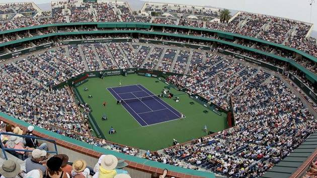 Le Central du tournoi d'Indian Wells est l'un des plus grands courts du monde