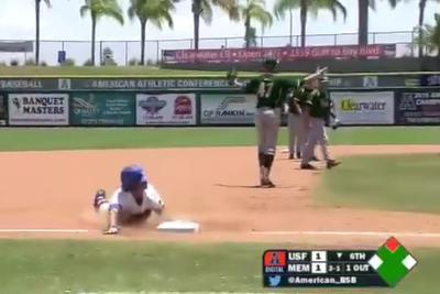 Memphis player scores the most unpredictable inside-the-park home run