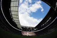 A general view of Wembley Stadium in London during the London 2012 Olympic Games men&#39;s football match between Senegal and Uruguay. Senegal won the game 2-0