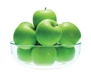 Bowl of green granny smith apples, Feb 13, p87