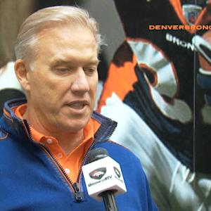 Denver Broncos General Manager and Executive Vice President John Elway: 'Glad Peyton is going to be a part of this team'