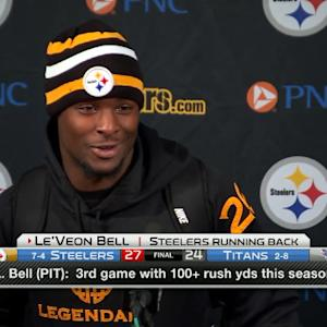 Pittsburgh Steelers running back Le'Veon Bell: The goal was 150 yards