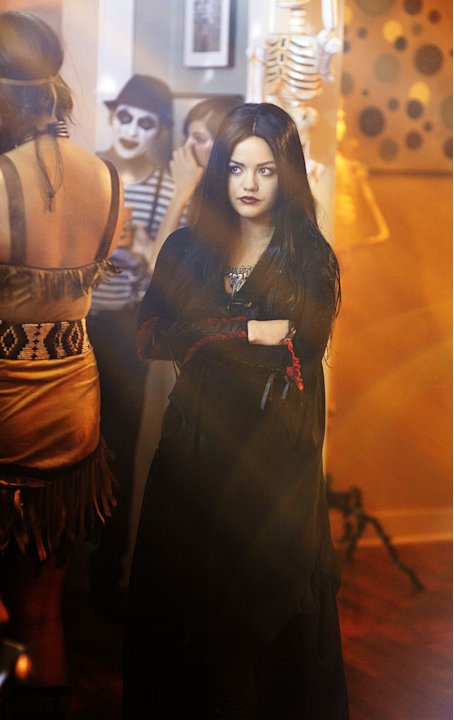 It's the Halloween before Alison disappeared and where all of the secrets and lies began for Aria, Emily, Hanna and Spencer in &quot;The First Secret,&quot; a special Halloween-themed episode of ABC Family's hi