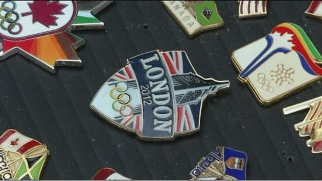 Fan has 2,000 Olympic badges