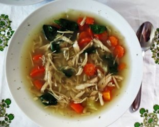 Slow Cooker Lemon Chicken and Orzo Soup Recipe