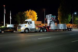 Historic Moon Engine Mockup Takes Short Trip to New L.A. Display