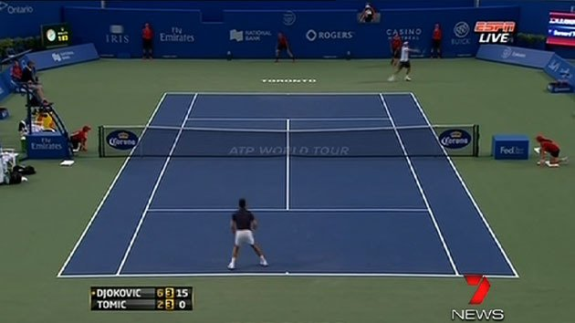 Tomic loses to Djokovic at Montreal