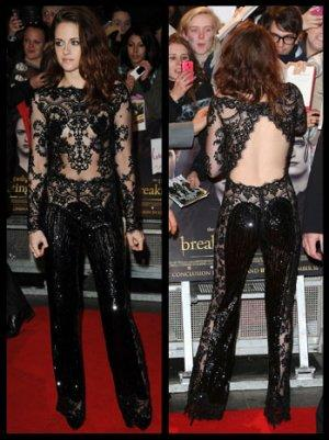 'Breaking Dawn 2': Kristen Stewart Is a Sheer Delight (Again) in a Revealing Black Lace Bodysuit