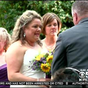 Couple Weds Next To California's Largest Fire In El Dorado County